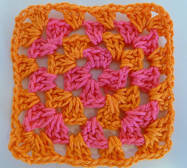double crochet treble crochet and slip stitch you will have