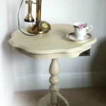 small cream table